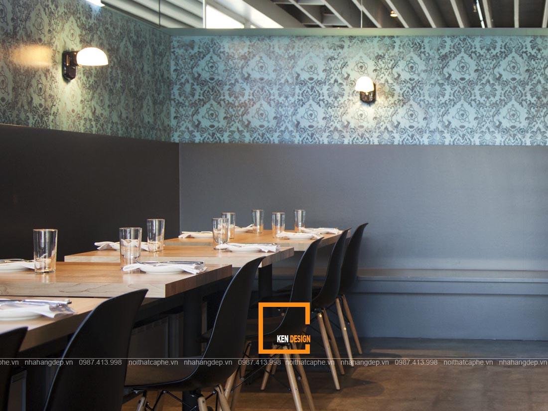 Sử dụng giấy dán tường trong thiết kế nhà hàng Hàn Quốc