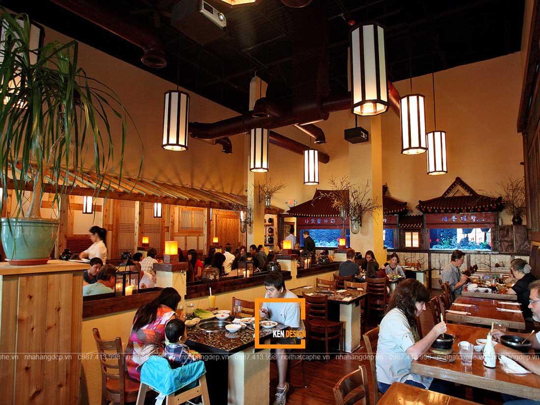 Lựa chọn địa điểm thiết kế nhà hàng Hàn Quốc thu hút khách hàng