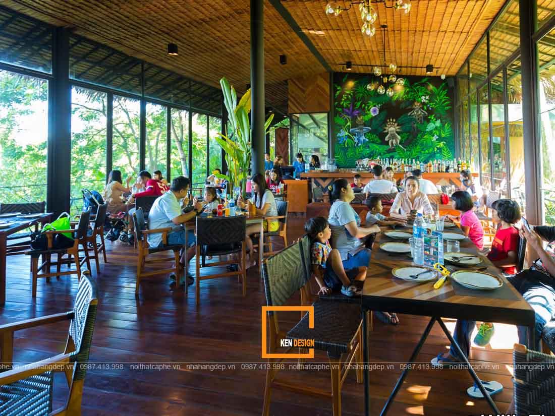 Không gian thiết kế nhà hàng Thái Lan tạo cảm giác thoải mái