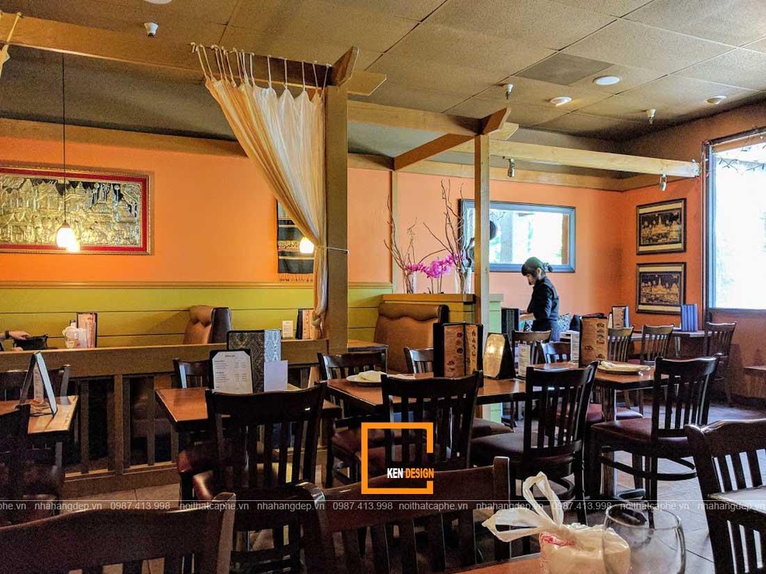 Nội thất thiết kế nhà hàng Thái Lan
