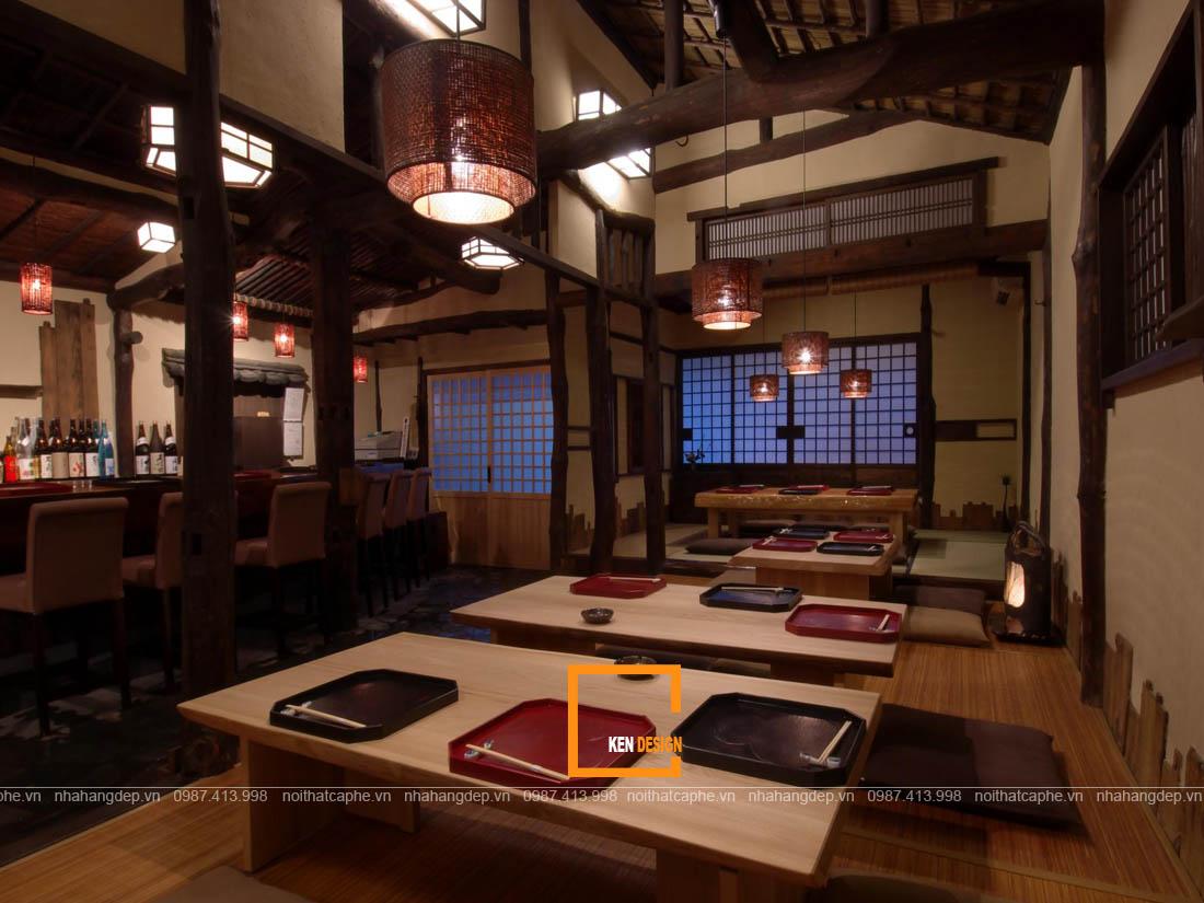 Thiết kế nhà hàng kiểu Nhật phong cách truyền thống