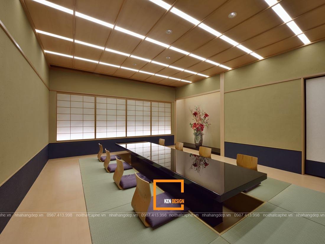 Nội thất phòng riêng thiết kế nhà hàng Nhật Bản