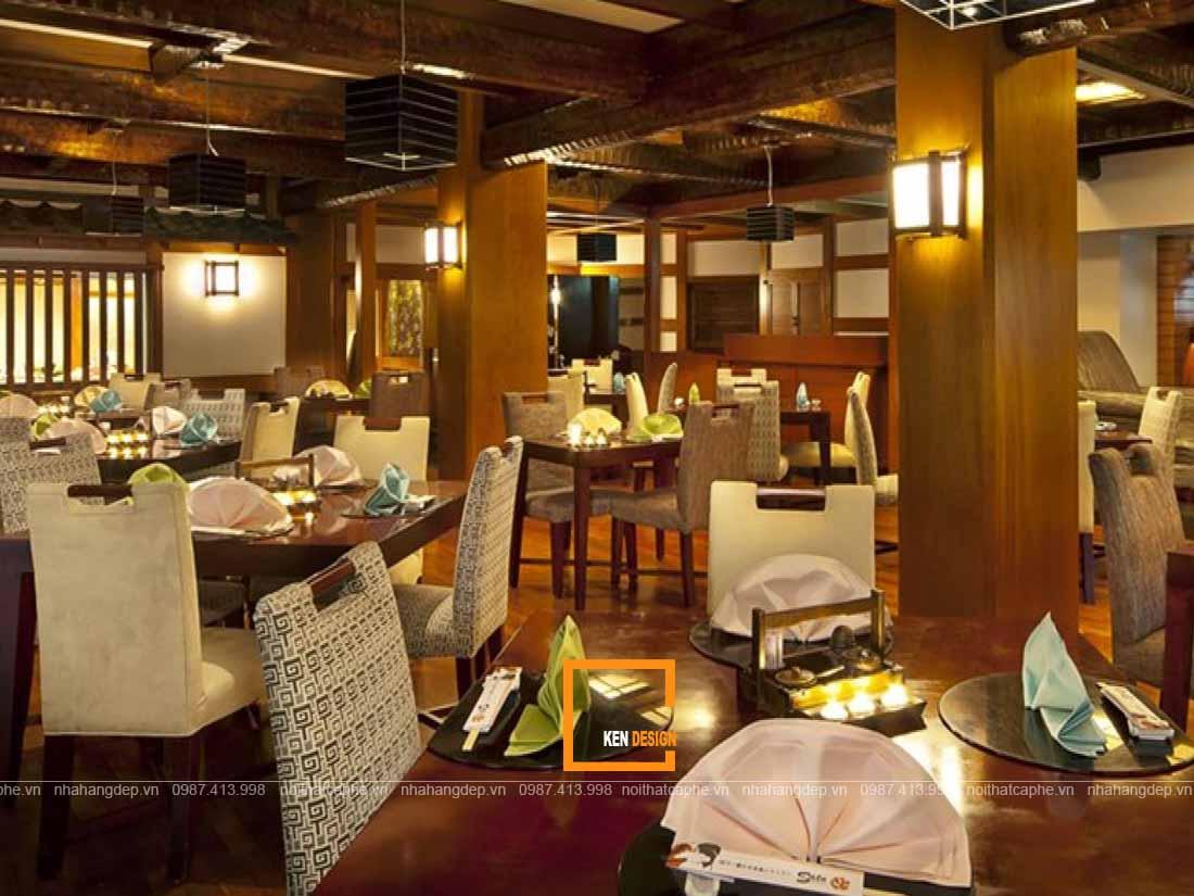 Trang trí thiết kế nhà hàng Nhật Bản thu hút