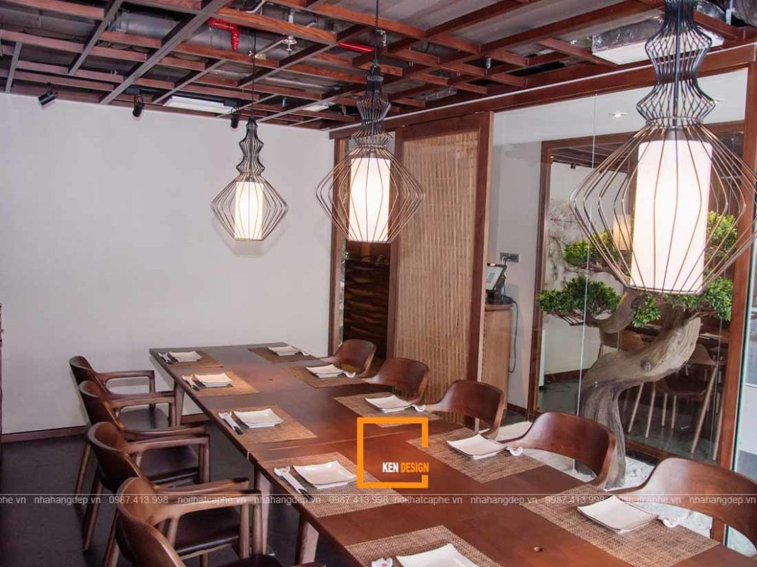 thiet ke nha hang nhat ban sang trong chuan phong cach 4 1067x800 - Thiết kế nhà hàng Nhật Bản sang trọng chuẩn phong cách