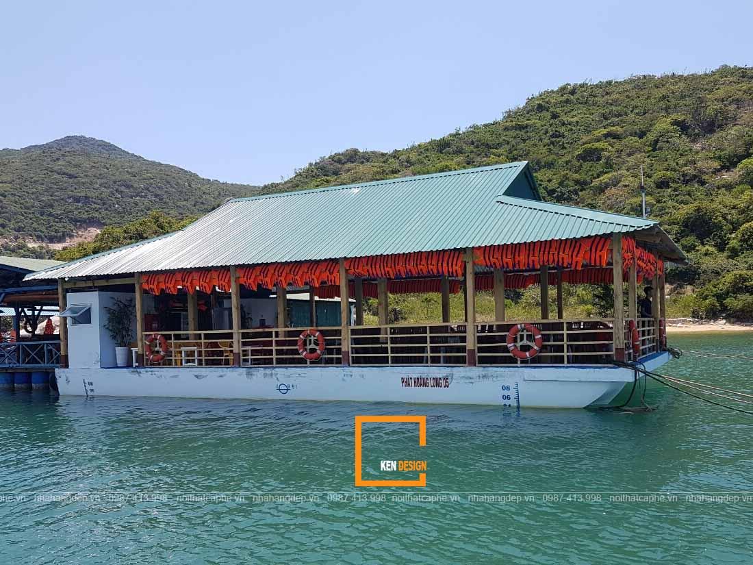Thiết kế nhà hàng nổi trên sông với không gian thoáng đãng