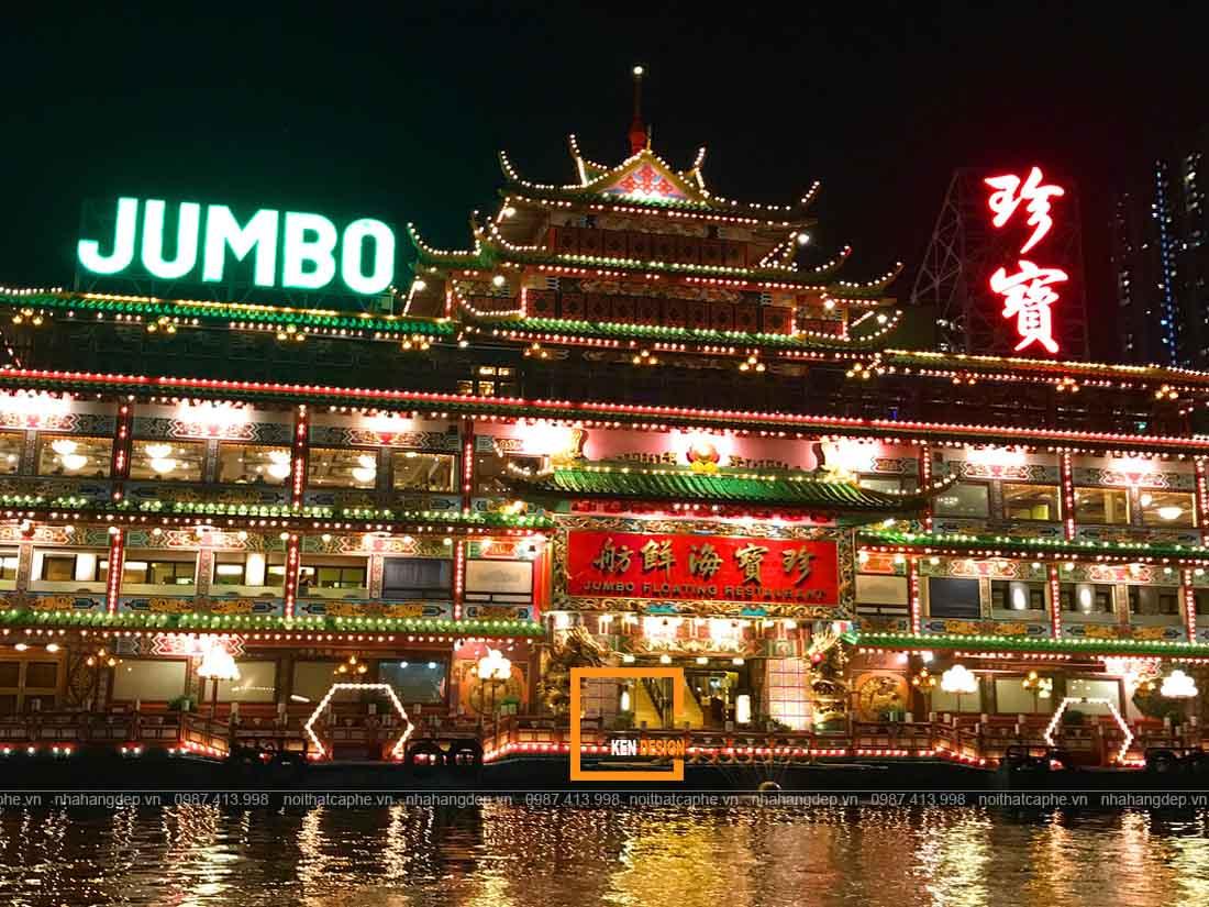 Thiết kế nhà hàng nổi trên sông phong cách Á Đông