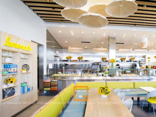 thiet ke nha hang phong cach hien dai 2 1 533x400 - Cách tạo điểm nhấn khi thiết kế nhà hàng phong cách hiện đại