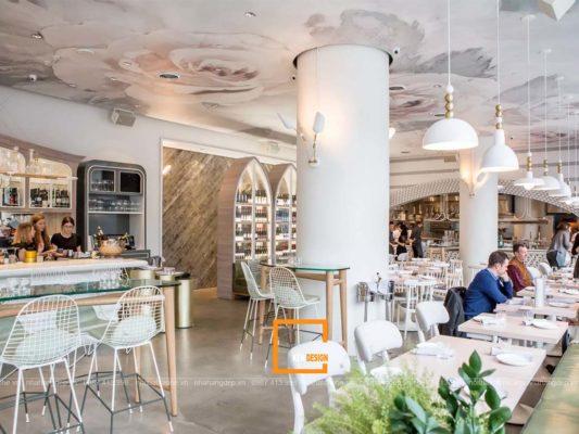 thiet ke noi that nha hang 4 533x400 - Cách thiết kế nội thất nhà hàng đẹp, tiết kiệm chi phí