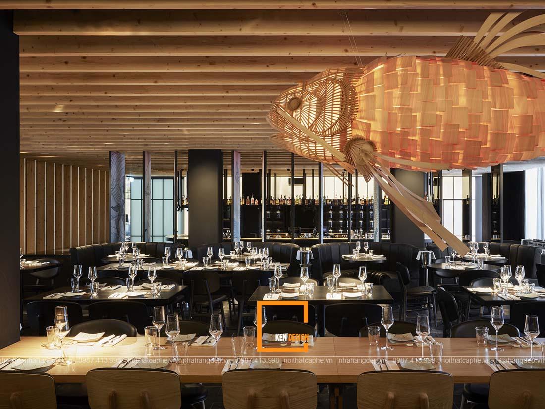 Thiết kế nội thất nhà hàng đơn giản đẹp