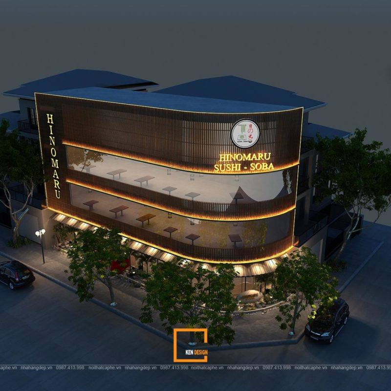A MAT TIEN 1 800x800 - Lạc vào xứ phù tang trong thiết kế nhà hàng Hinomaru Sushi tại Đà Nẵng