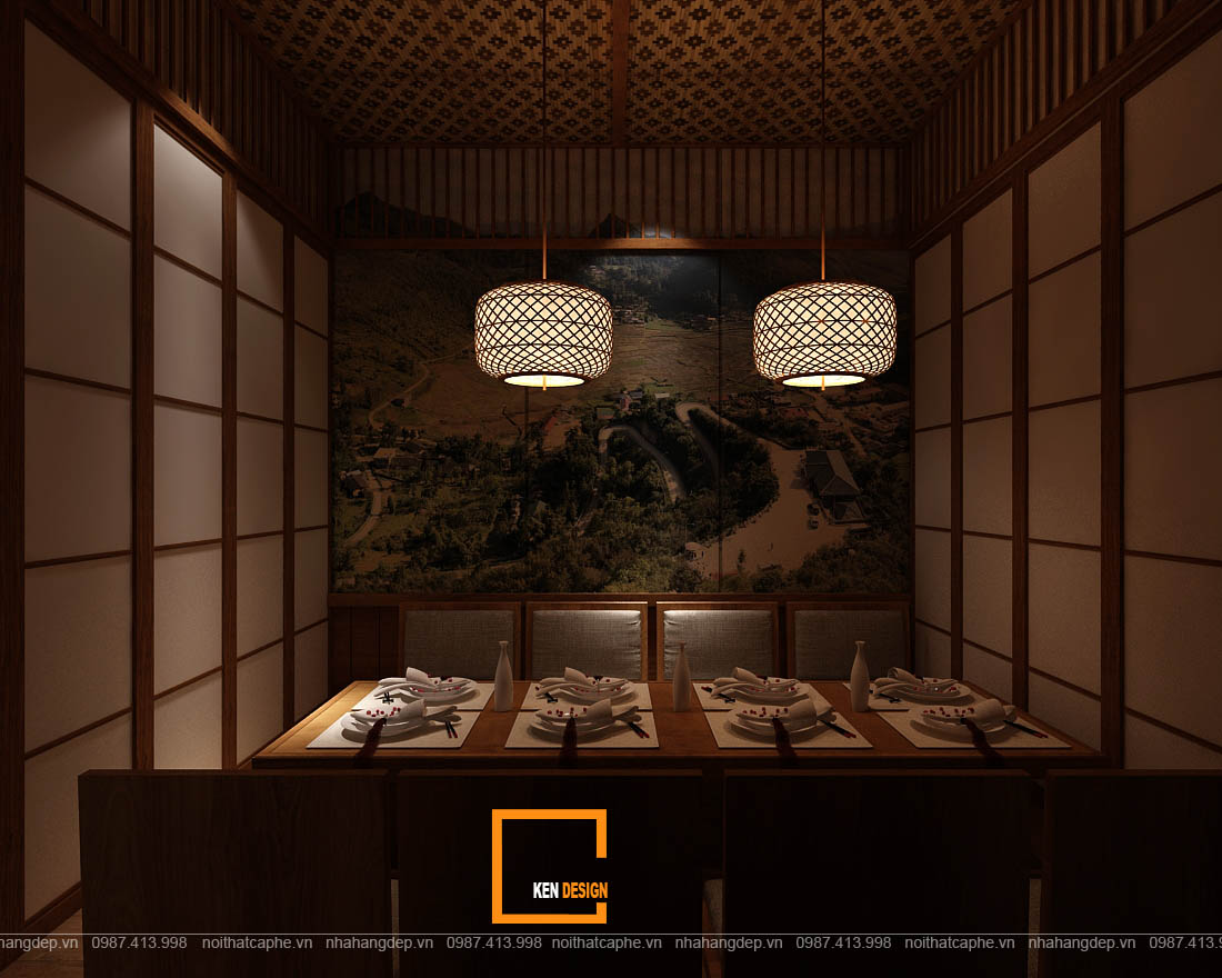 Thiết kế nhà hàng Hinomaru Sushi