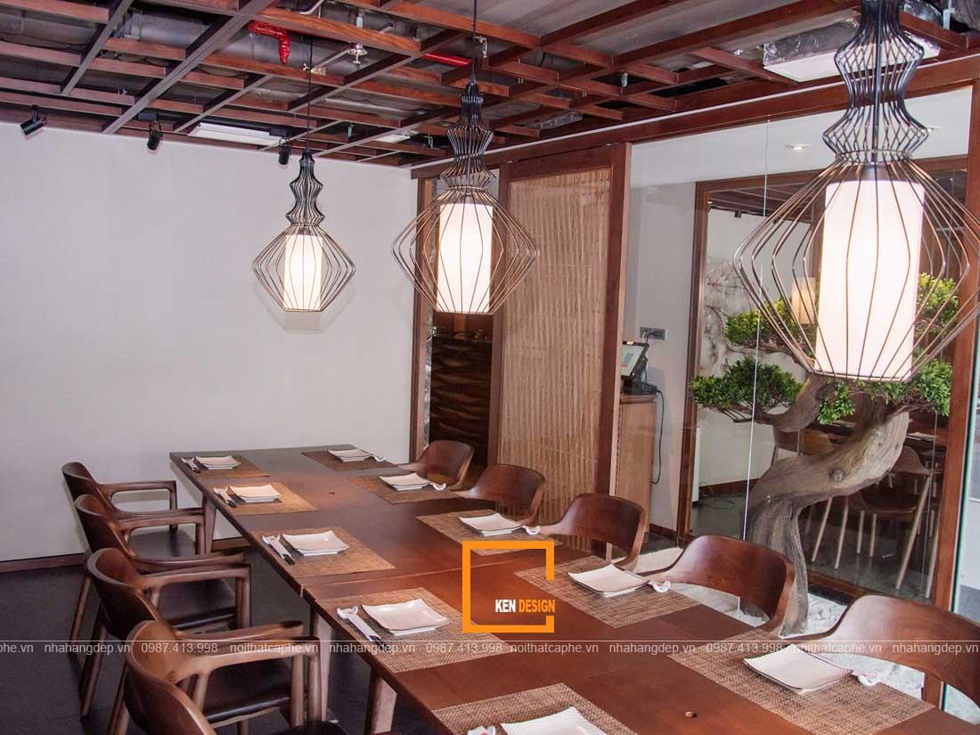 Nội thất phòng vip thiết kế nhà hàng kiểu Nhật