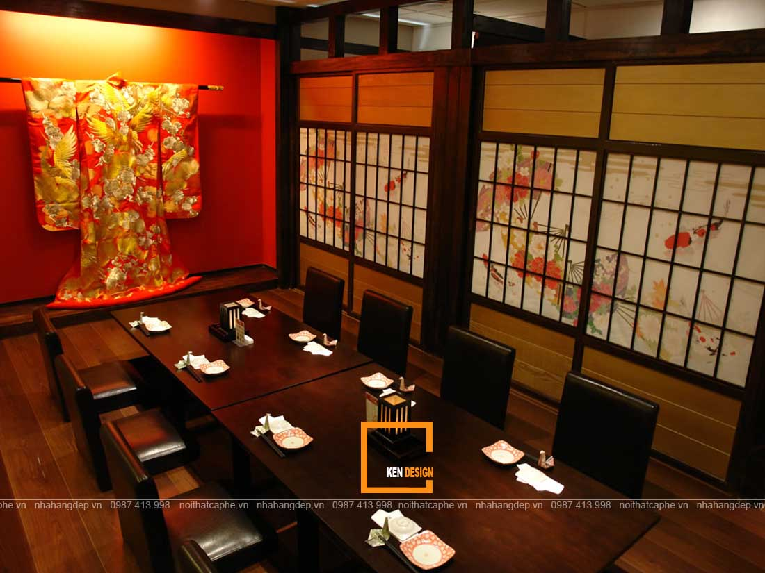 Trang trí thiết kế nhà hàng kiểu Nhật đậm nét văn hóa