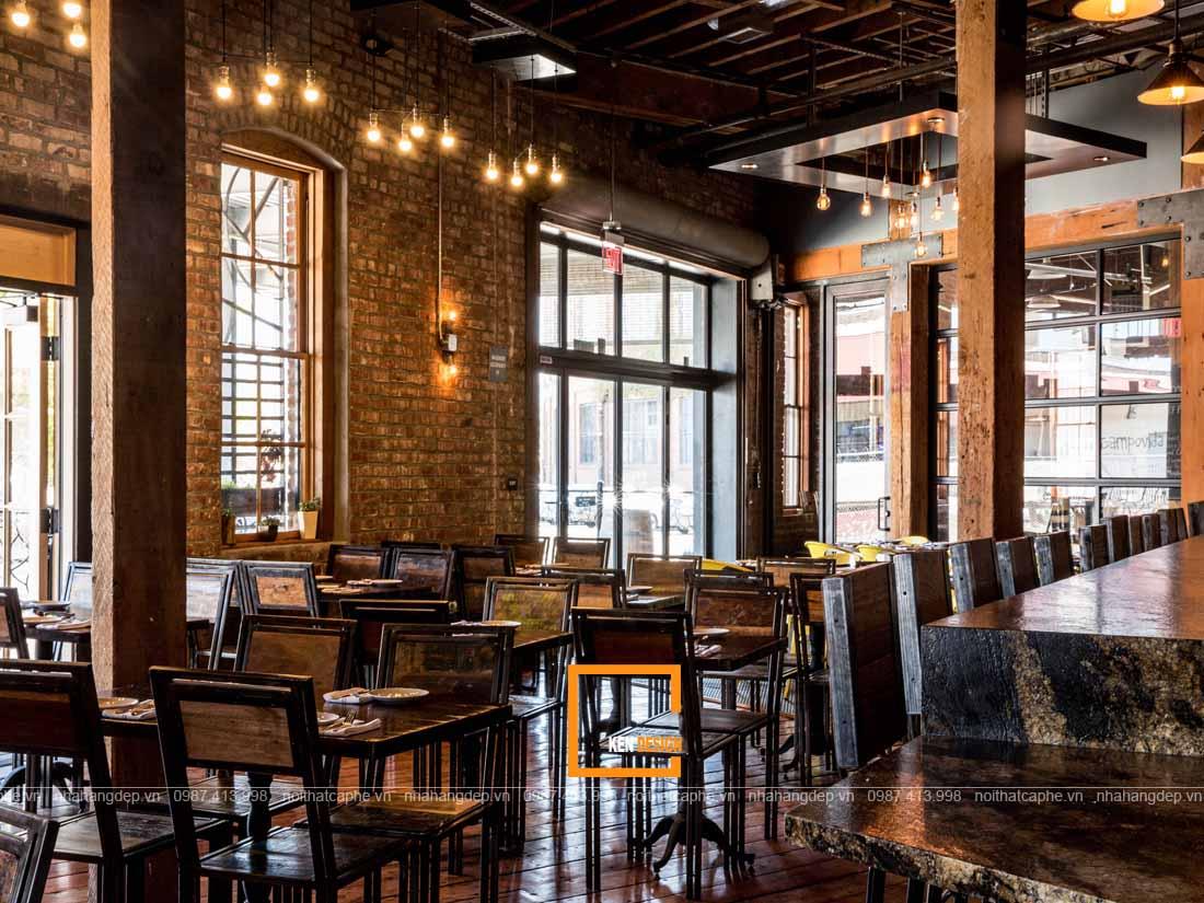 Không gian thiết kế nhà hàng phong cách Industrial