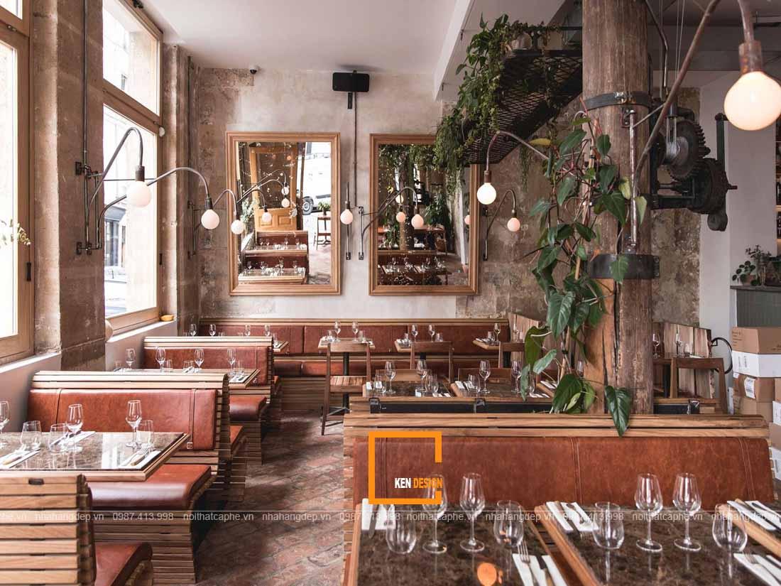 Thiết kế nhà hàng với nội thất sáng tạo thu hút