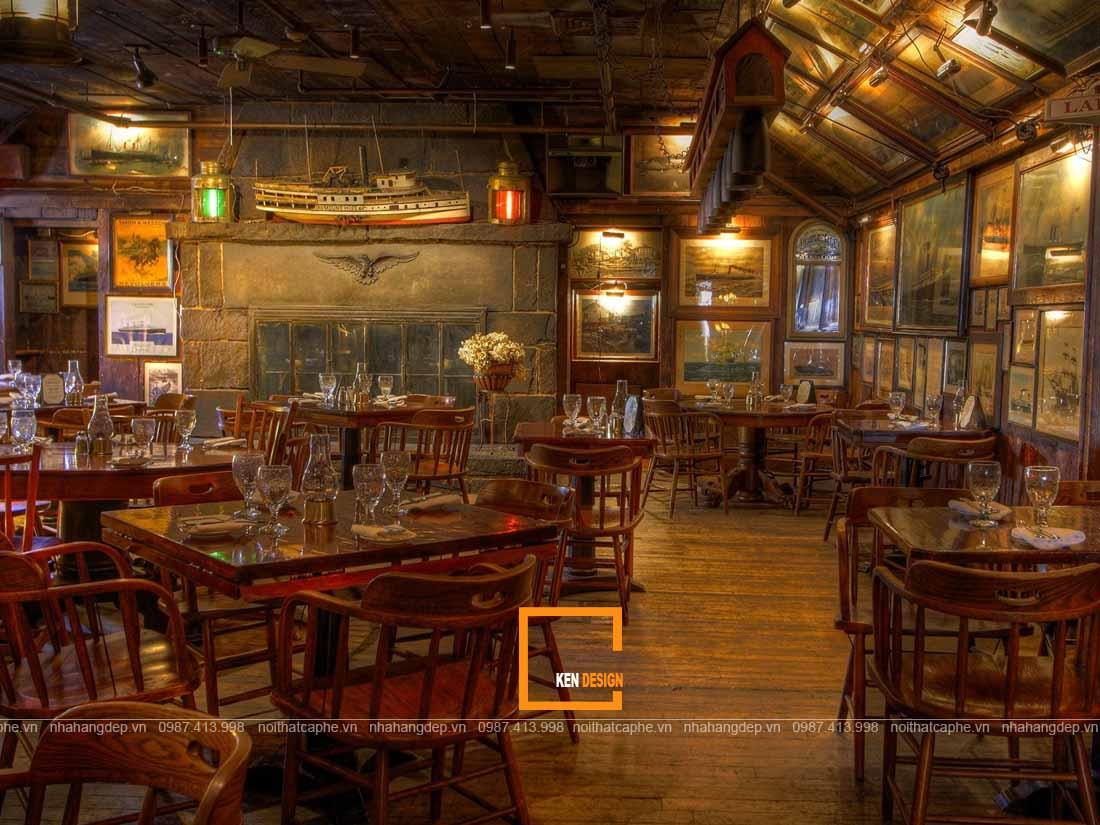 Thiết kế nhà hàng đặc trưng nét xưa cũ