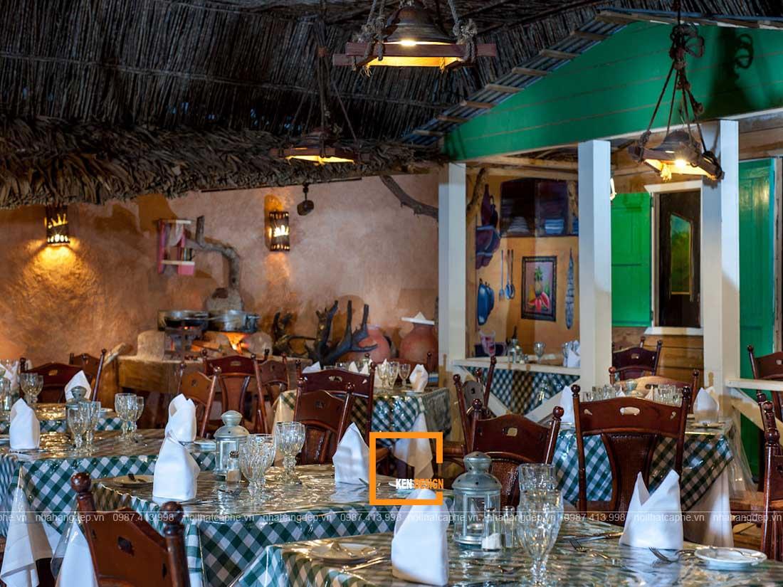 Thiết kế nội thất nhà hàng phong cách nhiệt đới