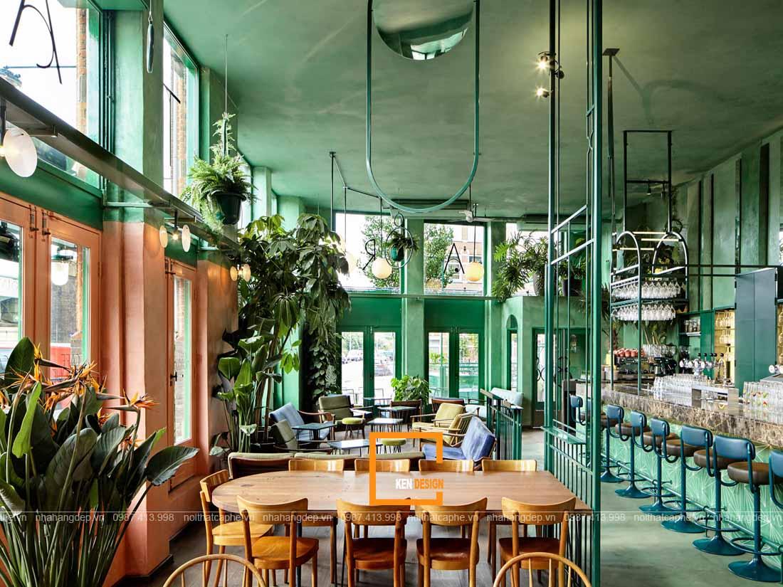 Trang trí thiết kế nhà hàng phong cách nhiệt đới