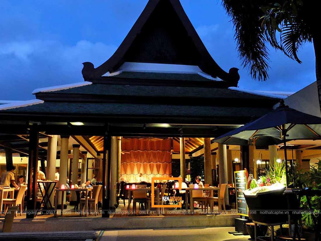 Kiến trúc thiết kế nhà hàng Thái Lan