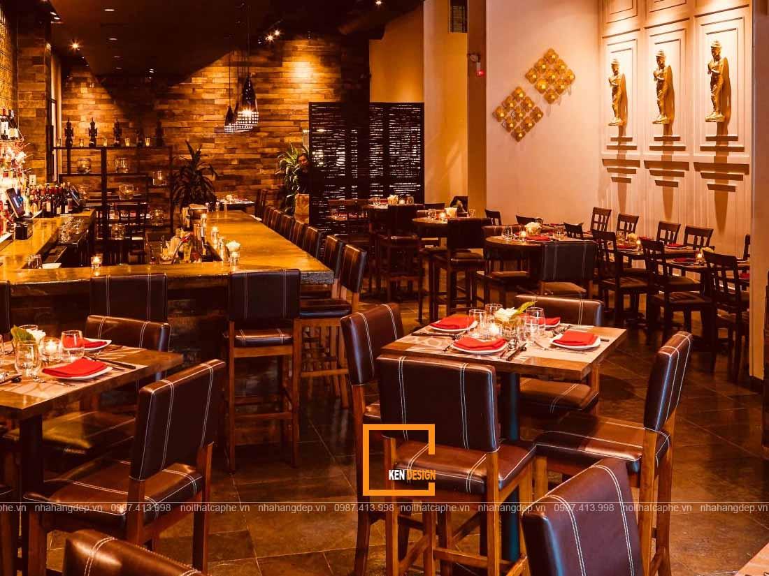 Không gian ấm cúng của thiết kế nhà hàng Thái Lan