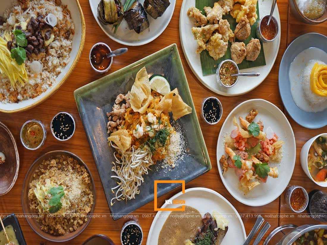 Ẩm thực độc đáo trong thiết kế nhà hàng Thái Lan