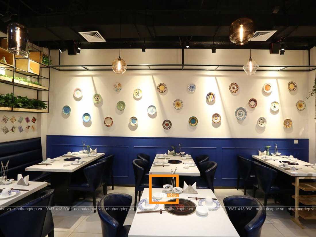 Không gian thiết kế nhà hàng lẩu