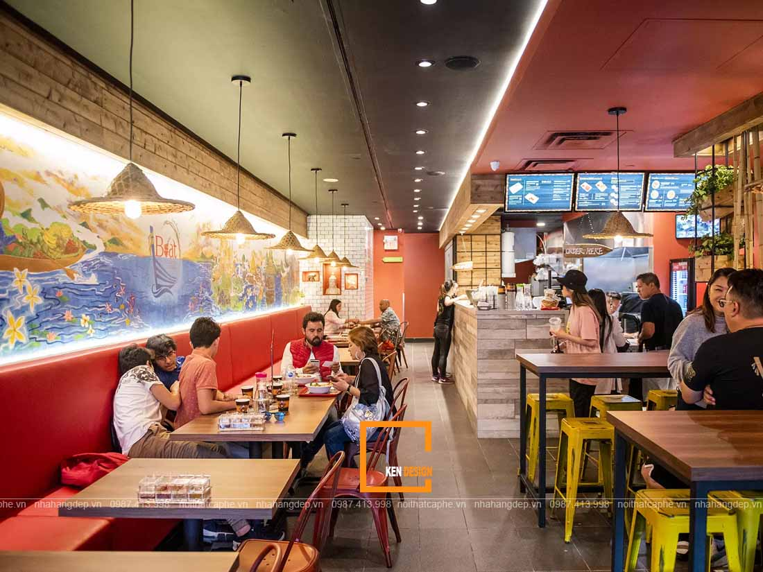Trang trí thiết kế nhà hàng mỳ cay sáng tạo