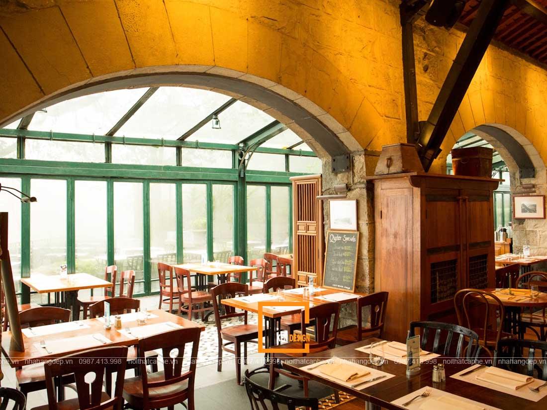 Thiết kế nhà hàng phong cách Rustic