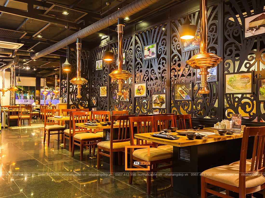 Tạo điểm nhấn cho thiết kế nhà hàng ấn tượng