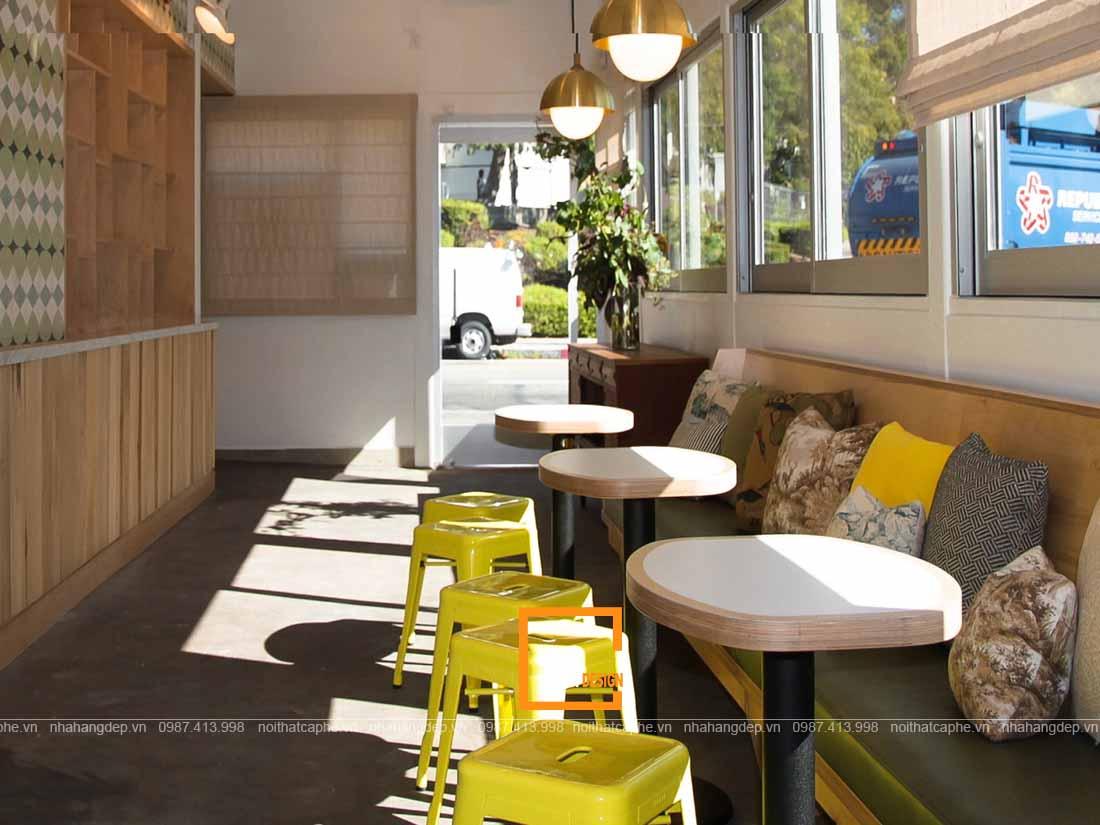 Nội thất đẹp trong thiết kế quán ăn