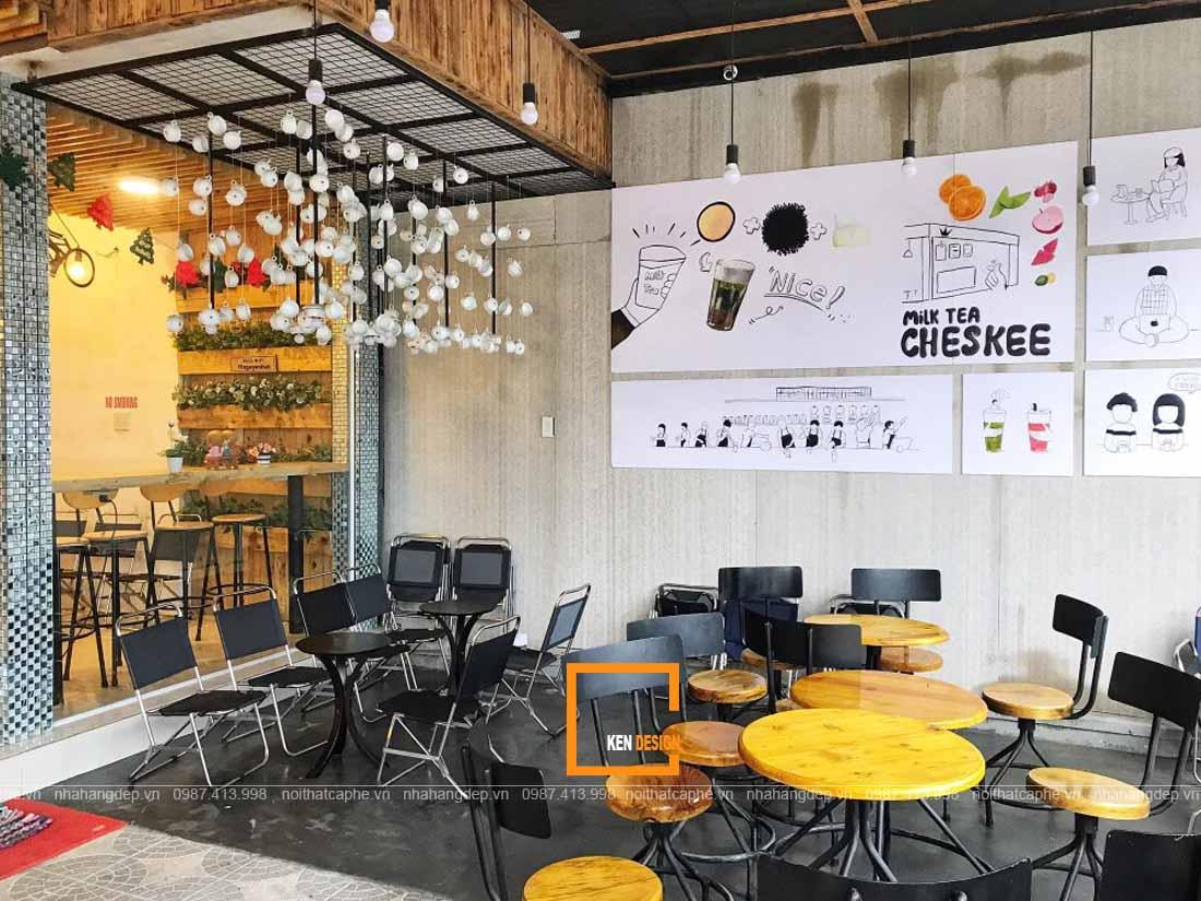 Phối màu tinh tế trong thiết kế quán ăn
