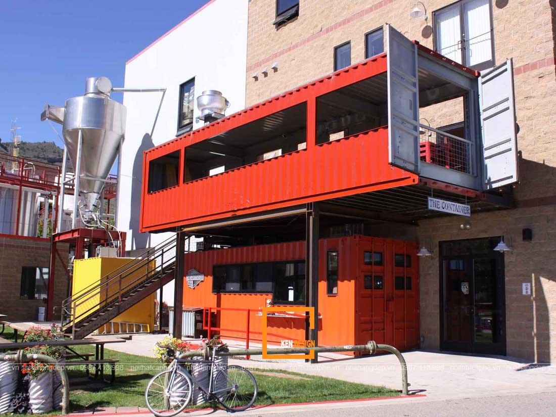 Thiết kế nhà hàng sáng tạo bằng container