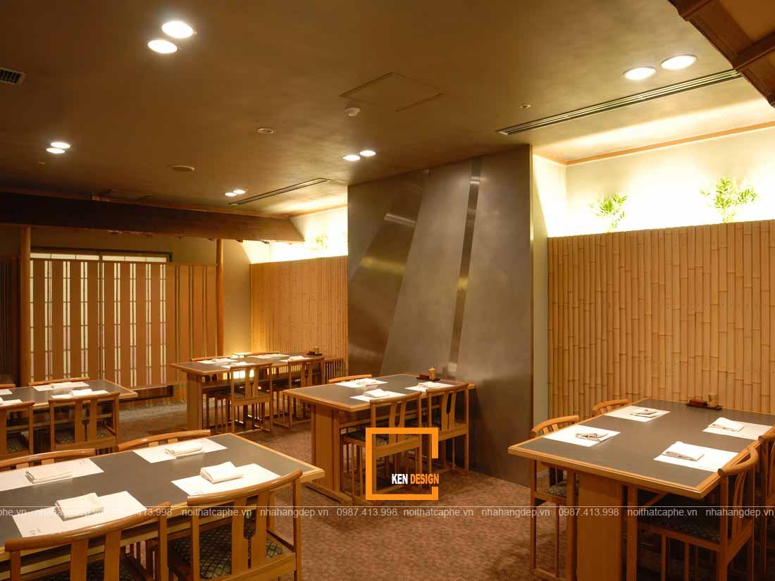 Lập kế hoạch chiếu sáng chi tiết cho thiết kế nhà hàng Nhật Bản