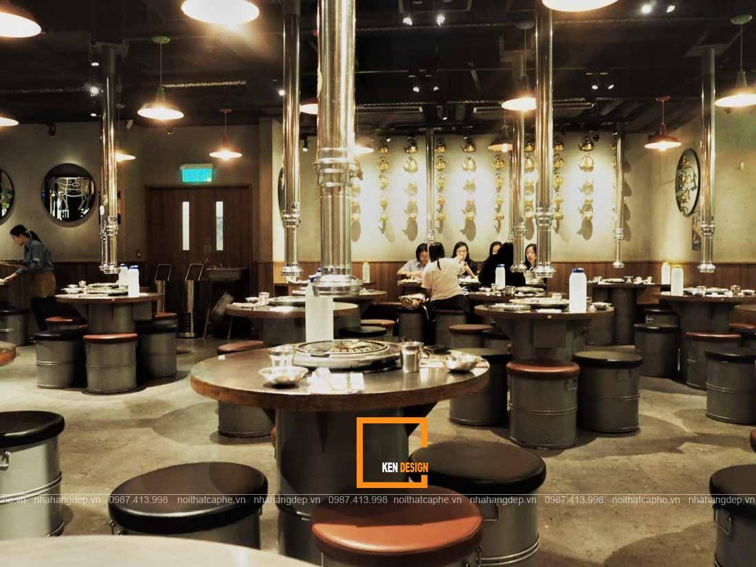 Thiết kế nhà hàng lẩu phong cách công nghiệp