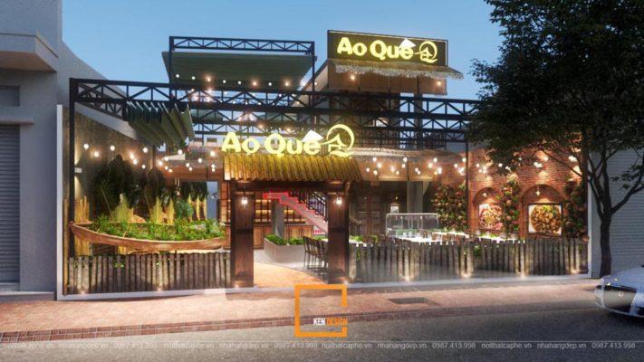 thiet ke nha hang ao que 18 711x400 - Bỏ quên đô thành vội vã với bản vẽ thiết kế nhà hàng Ao Quê