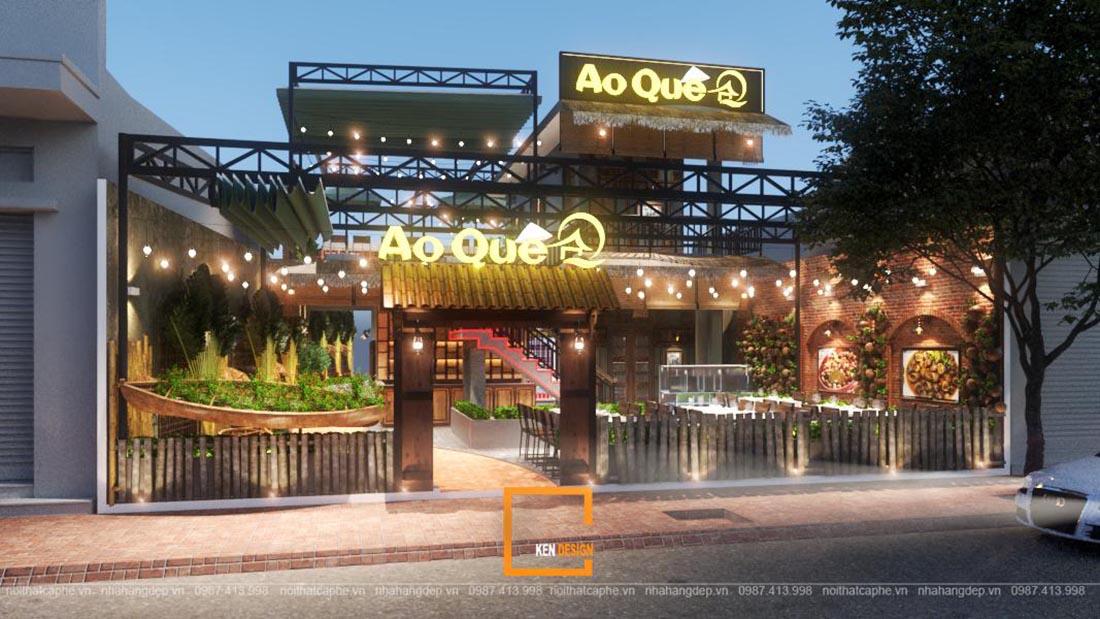 thiet ke nha hang ao que 18 - Bỏ quên đô thành vội vã với bản vẽ thiết kế nhà hàng Ao Quê