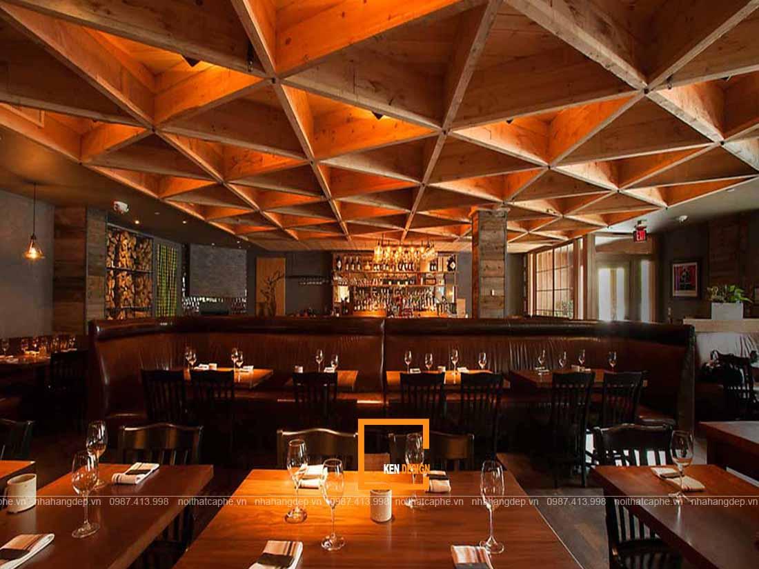 Nội thất gỗ thiết kế nhà hàng đẹp