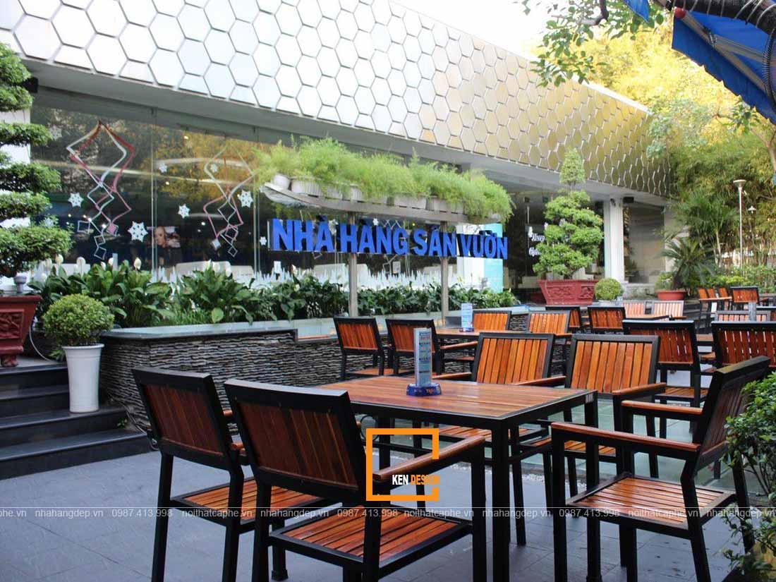 Thiết kế nhà hàng sân vườn siêu thu hút