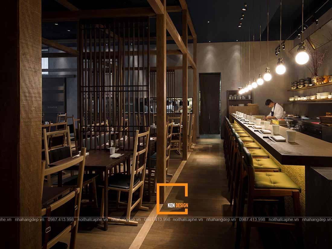 Nội thất thiết kế nhà hàng Nhật Bản