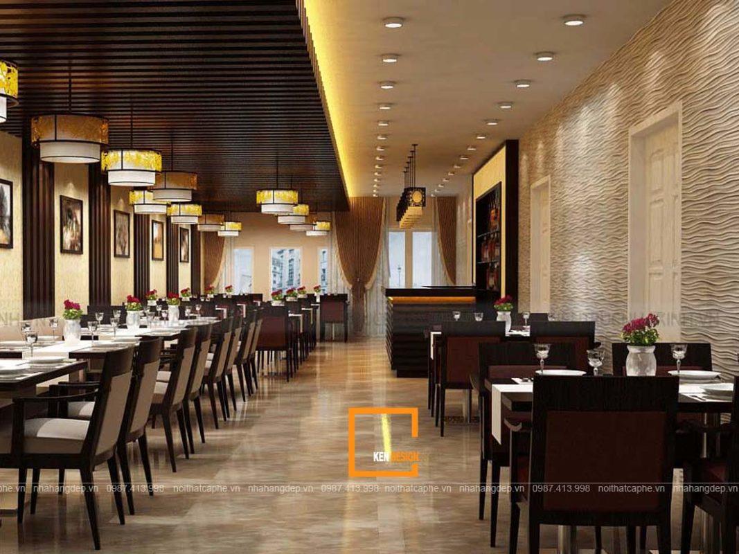 thiet ke nha hang phong cach hien dai 1 3 1067x800 - Tạo điểm nhấn khi thiết kế nhà hàng phong cách hiện đại
