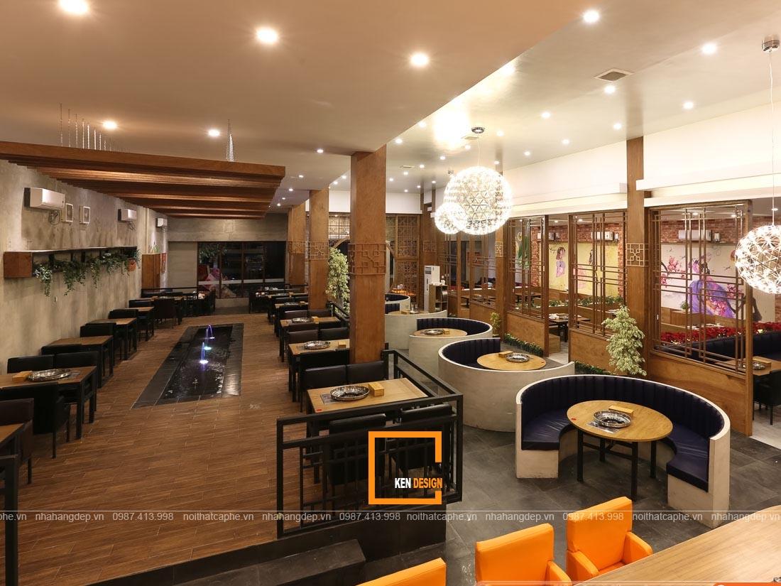 Thiết kế nhà hàng phong cách hiện đại