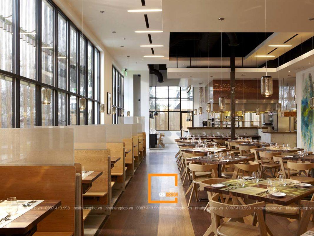 thiet ke nha hang phong cach hien dai 4 1 1067x800 - Đặc điểm của thiết kế nhà hàng phong cách hiện đại