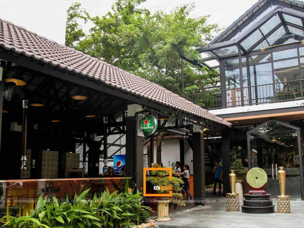 thiet ke nha hang san vuon 4 2 1067x800 - Đặc trưng của thiết kế nhà hàng sân vườn