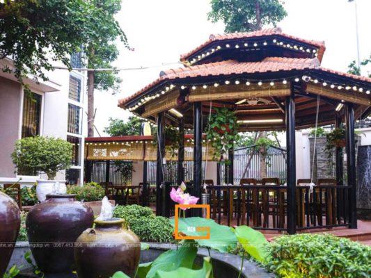 thiet ke nha hang san vuon 5 533x400 - Đặc điểm của thiết kế nhà hàng sân vườn