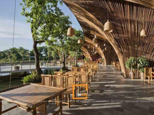 thiet ke nha hang san vuon noi bat 3 533x400 - Thiết kế nhà hàng sân vườn nổi bật