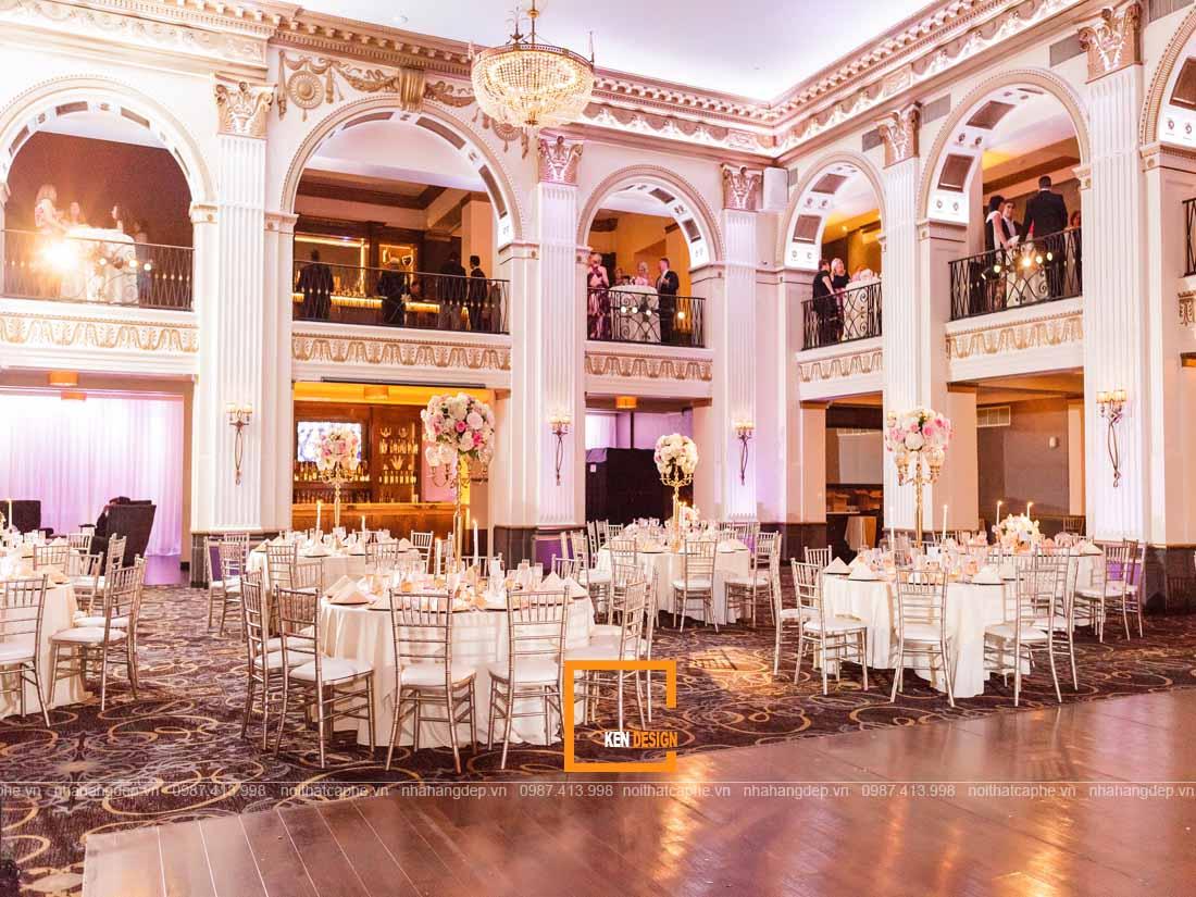 Nội thất thiết kế nhà hàng tiệc cưới cổ điển