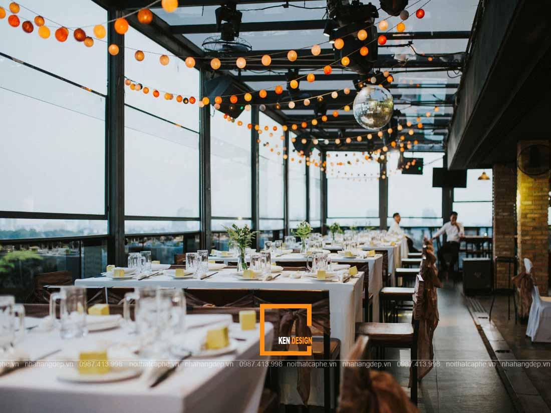 Ý tưởng thiết kế nhà hàng trên sân thượng thu hút