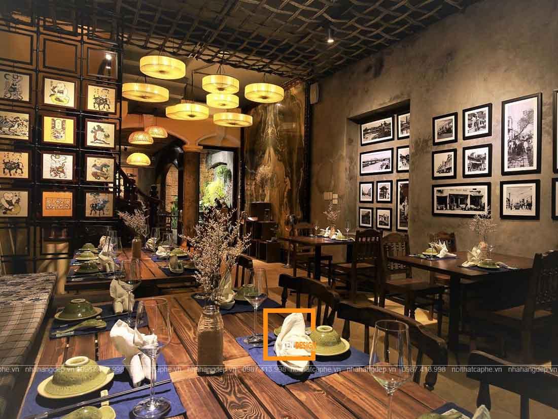 Thi công nhà hàng truyền thống Việt Nam