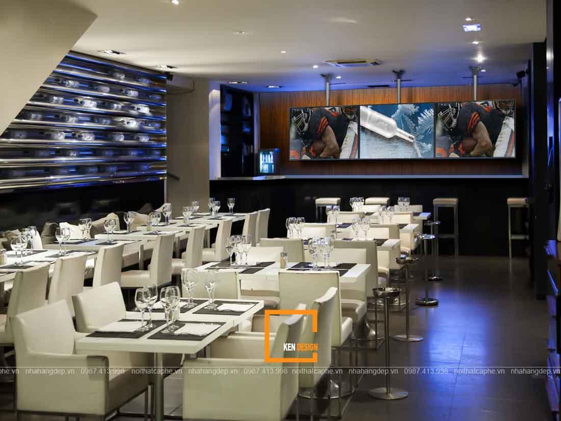 Mẫu thiết kế nhà hàng ăn uống phong cách hiện đại