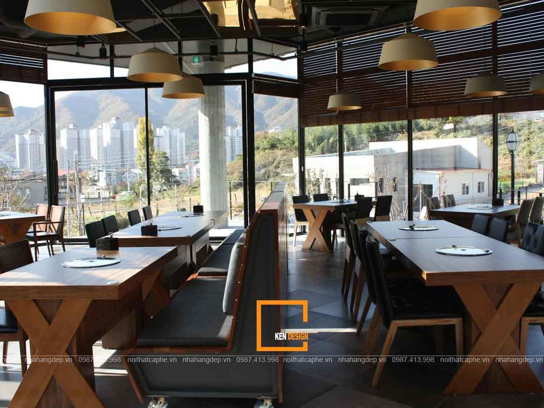 Thi công nội thất nhà hàng phong cách Hàn Quốc